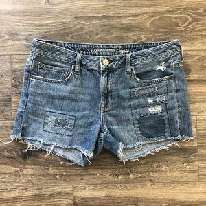 American Eagle Patchwork Jean Shorts